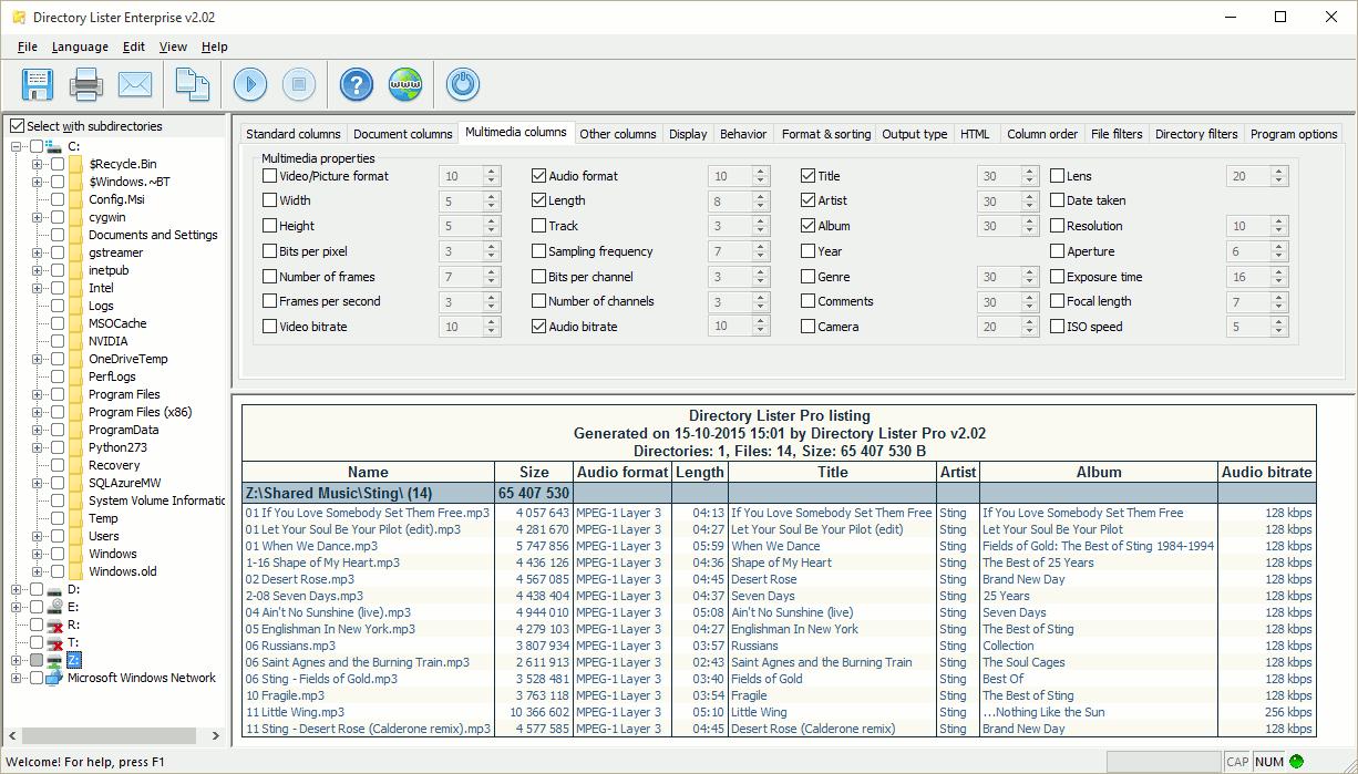 Resultado de imagen para Directory Lister Pro 2