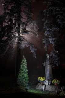 Parafia Krobia Kościół Pomnik Jana Pawła II