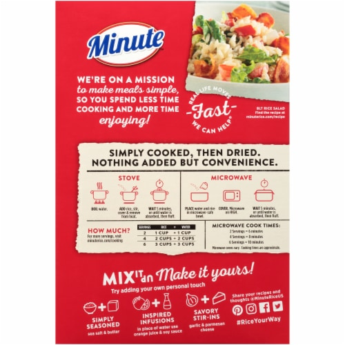minute instant white rice 42 oz