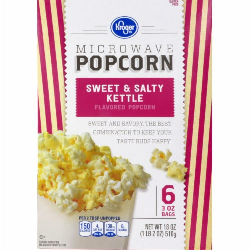 kroger kroger sweet salty kettle microwave popcorn 6 ct 3 oz