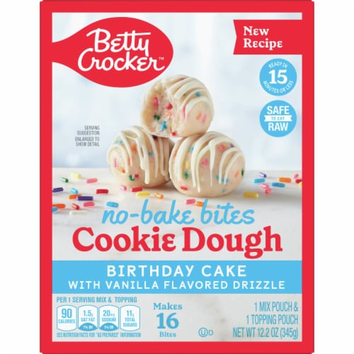 Betty Crocker No Bake Birthday Cake Cookie Dough Bites 12 2 Oz Kroger