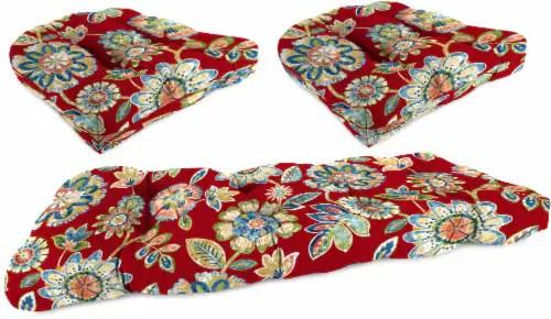 king soopers jordan manufacturing wicker settee cushion set daelyn cherry 3 pc
