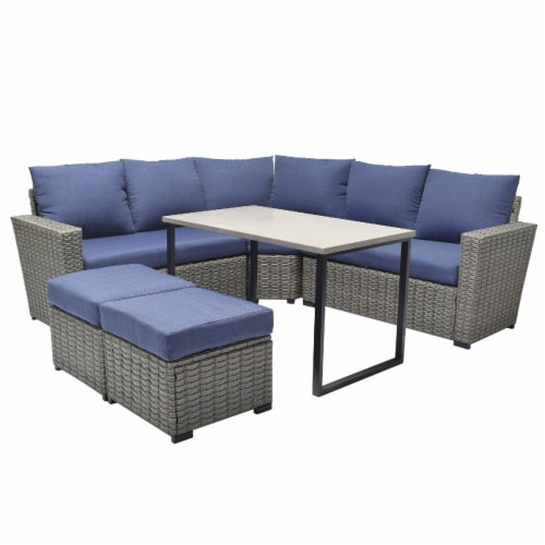 fred meyer hd designs outdoors luciana sectional set 6 pc