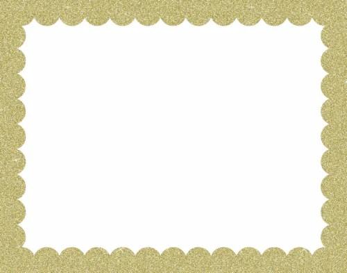 ucreate scalloped glitter border poster
