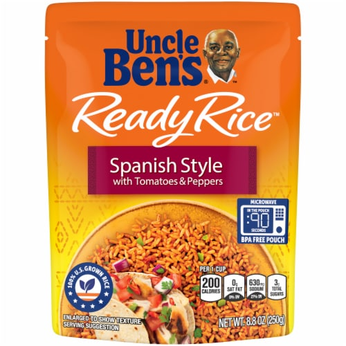kroger uncle ben s ready rice spanish style with tomatoes peppers rice 8 8 oz