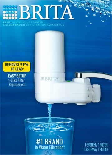 fry s food stores brita basic faucet filtration system white 1 ct
