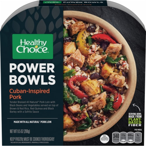 kroger healthy choice power bowls cuban inspired pork frozen meal 9 5 oz