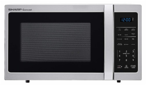 kroger sharp carousel stainless steel countertop microwave oven silver 0 9 cu ft