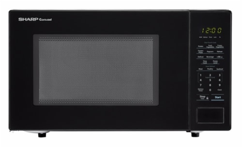 king soopers sharp carousel countertop microwave oven black 1 1 cu ft