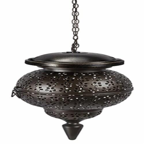 kroger paradise lighting 8015880 led glass metal hanging garden light bronze 1