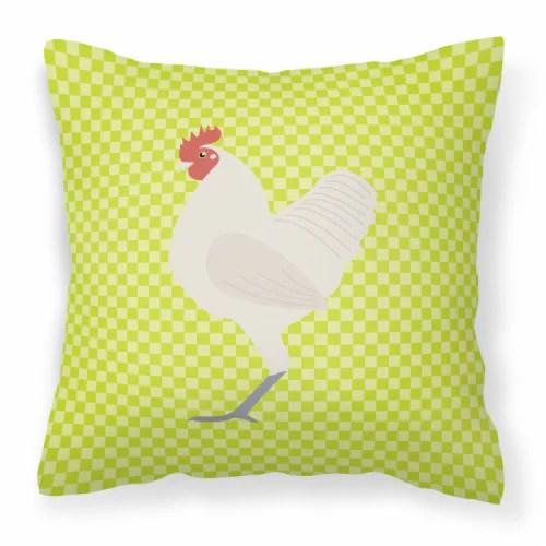 jay c food stores german langshan chicken green fabric decorative pillow 18hx18w