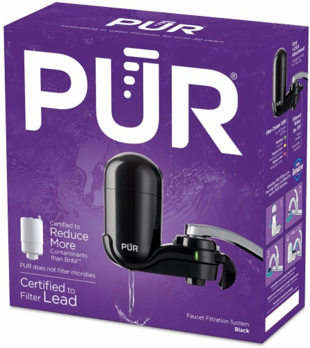 ralphs pur basic faucet mount water filtration system black 1 ct