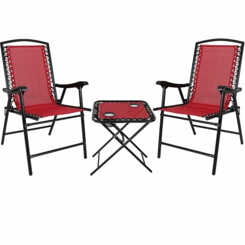 red outdoor suspension folding patio