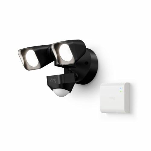 fred meyer ring smart lighting floodlight wired bridge black 1 ct