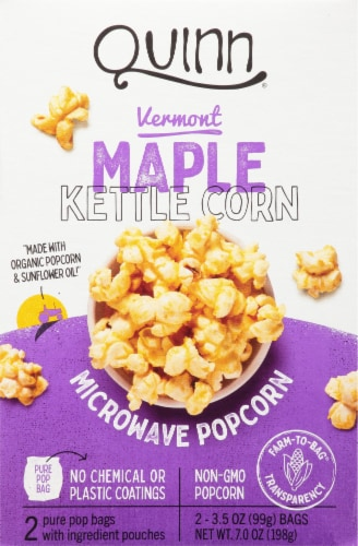 king soopers quinn vermont maple kettle corn microwave popcorn 2 ct 3 5 oz
