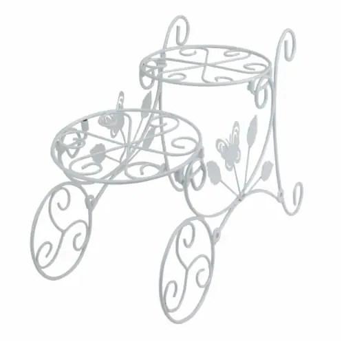 king soopers avon 33537588 14 5 in two tier white butterfly garden patio cart outdoor flower pot holder 1