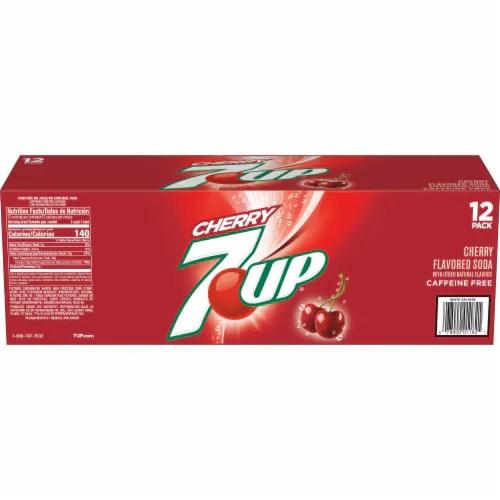 7up cherry soda 12 cans 12 fl oz
