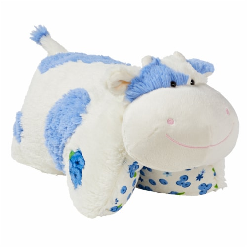 pillow pets sweet blueberry scented cow plush toy 18 in