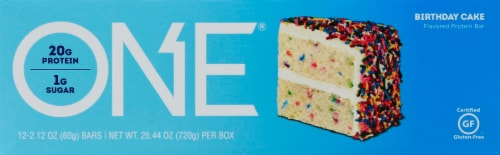 Oh Yeah One Birthday Cake Protein Bars 12 Ct 2 12 Oz Baker S