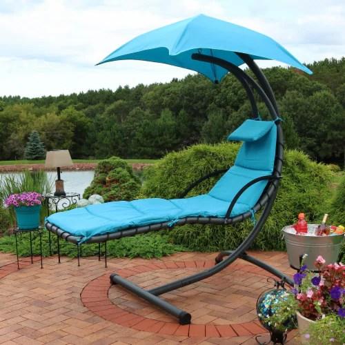 sunnydaze hanging floating patio chaise