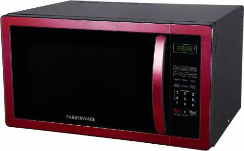 farberware classic 1000 watt microwave oven metallic red 1 ct