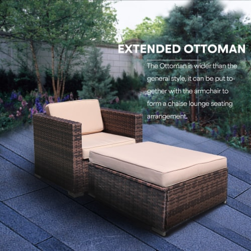 kumo outdoor sectional 4 piece patio furniture all weather wicker furniture sofa couch set 1 unit