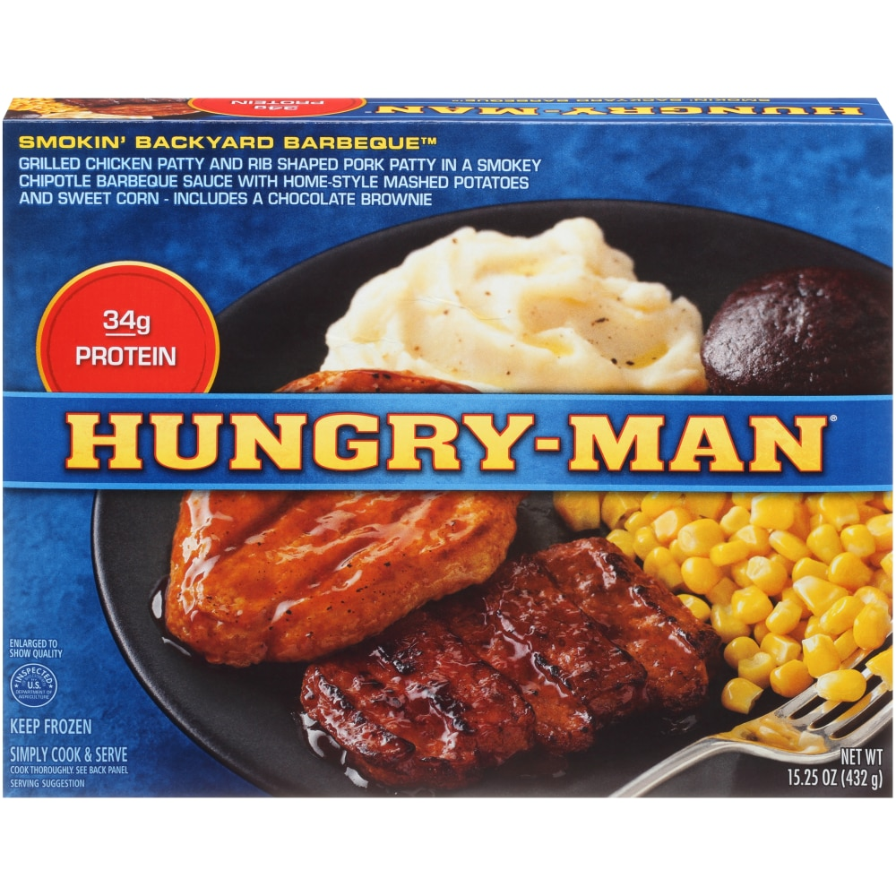 Kroger Hungry Man Smokin Backyard Barbecue Dinner 15 25 Oz