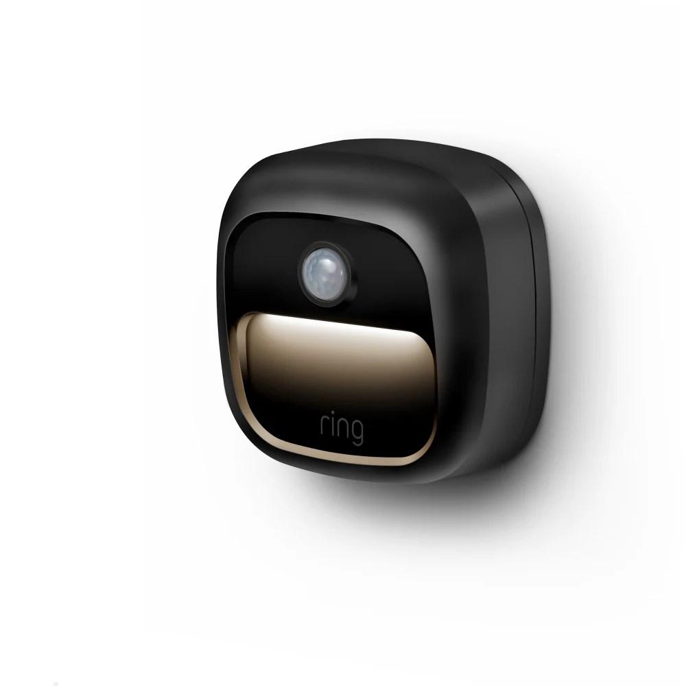 ring smart lighting battery step light black 1 ct