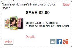 NEW 2 Garnier Coupon Hair Color For 499 At Kroger