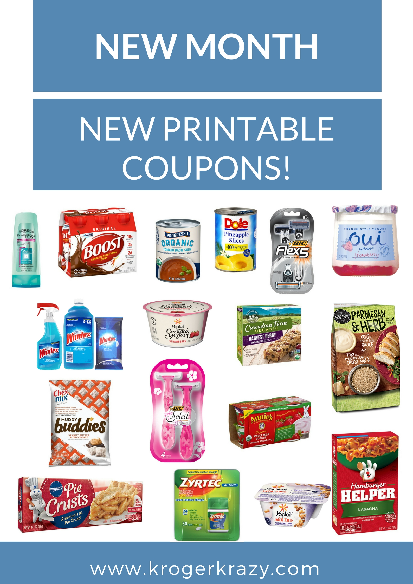 New Month New Printable Coupons Windex Yoplait