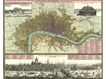 Antique International City Maps