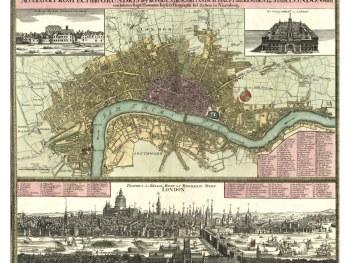 Antique International City Maps