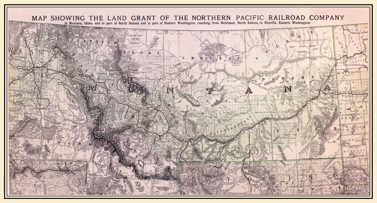 Montana Idaho Map.Montana And Idaho 1890 Northern Pacific Railroad Company Kroll