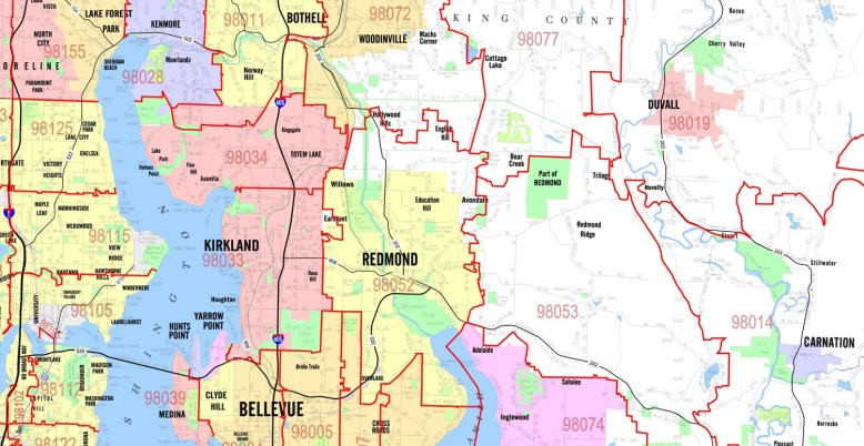 Arterial Level Mapping - Zip Code Overlay Example Map