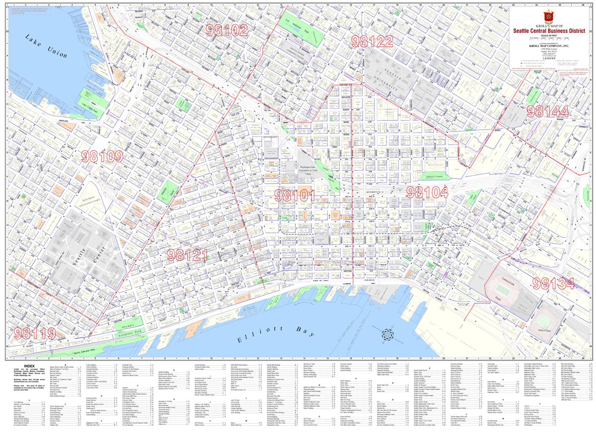 Central Business District Maps - Kroll Map Company on