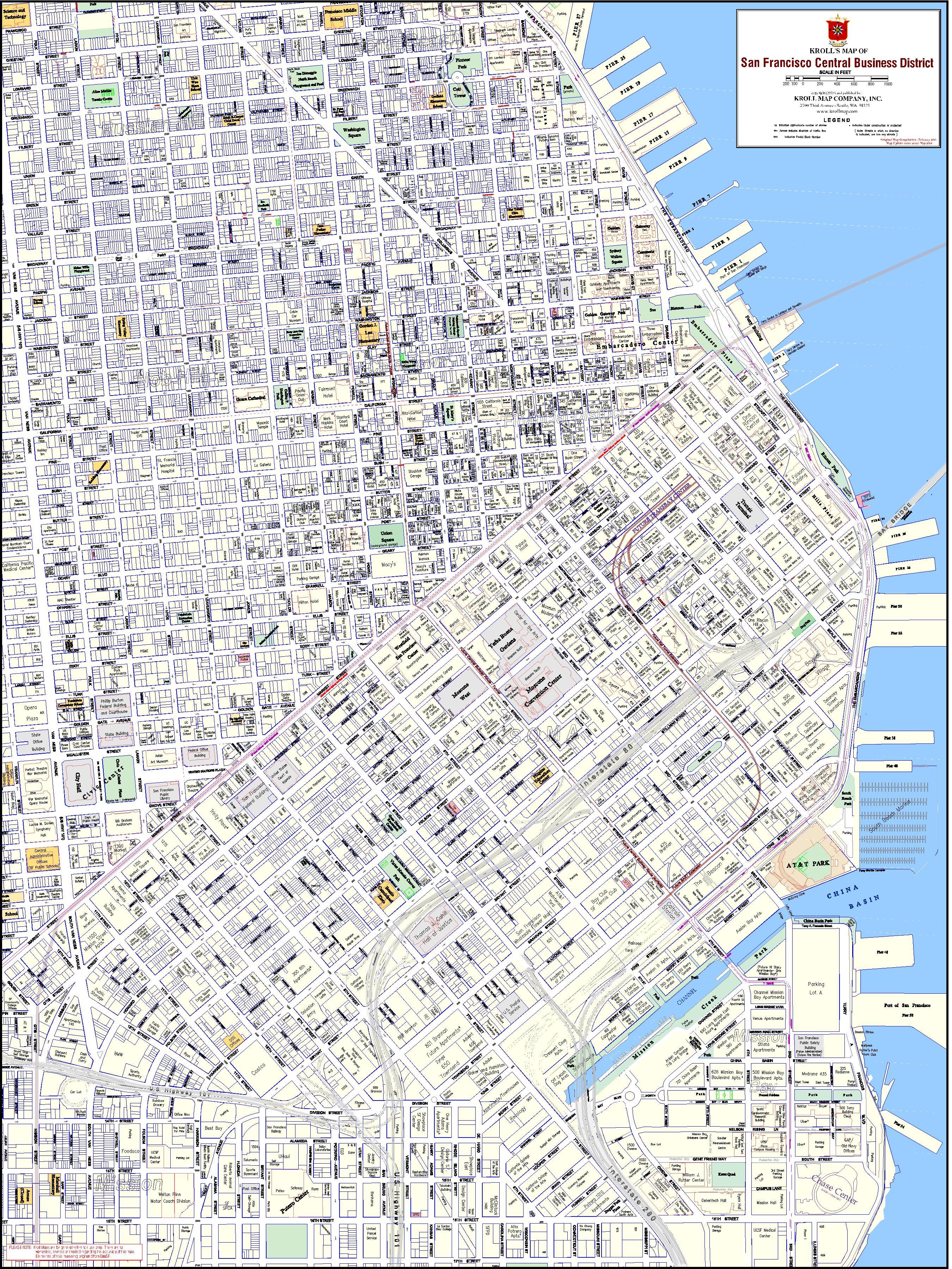 San Francisco & Bay Area Maps - Kroll Map Company