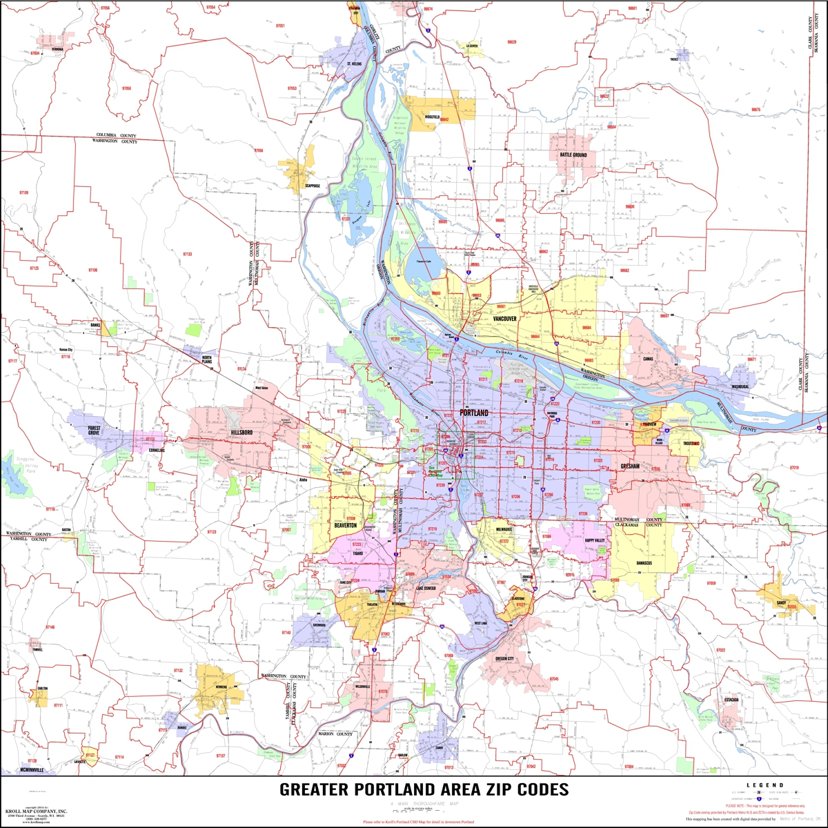 Portland Area Maps Kroll Map Company
