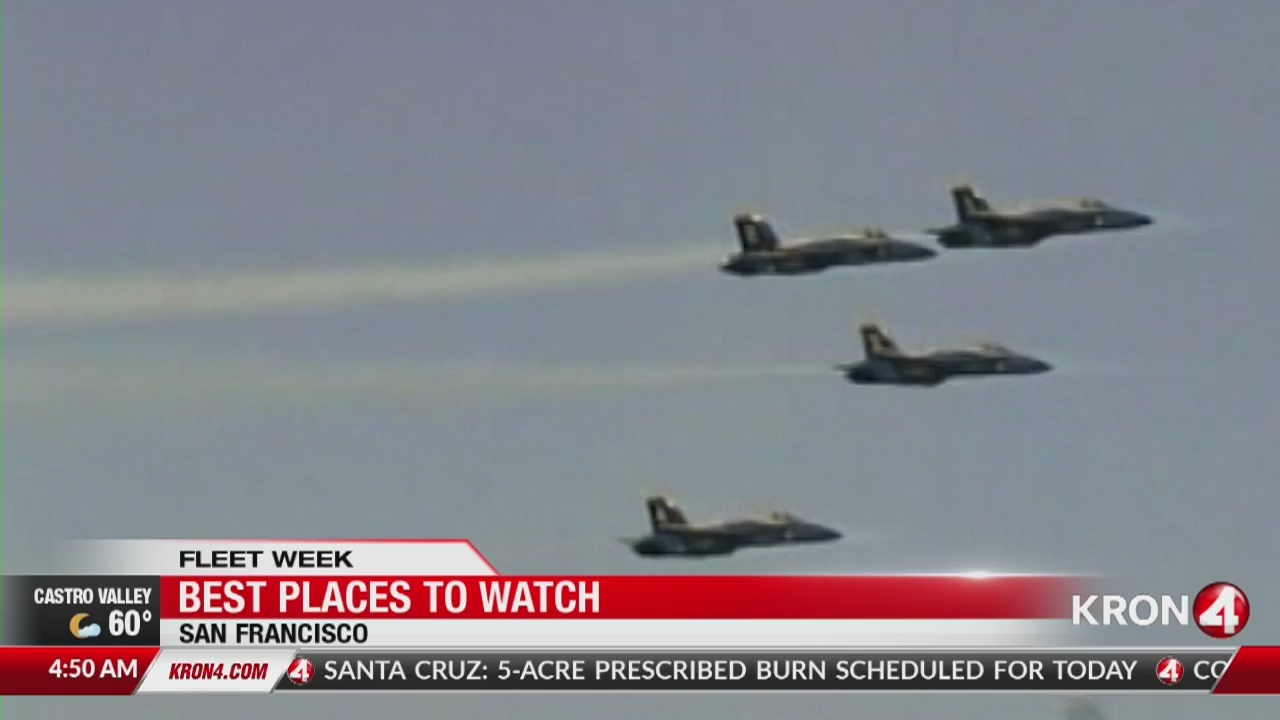 Best places to watch Blue Angels Fleet Week air show
