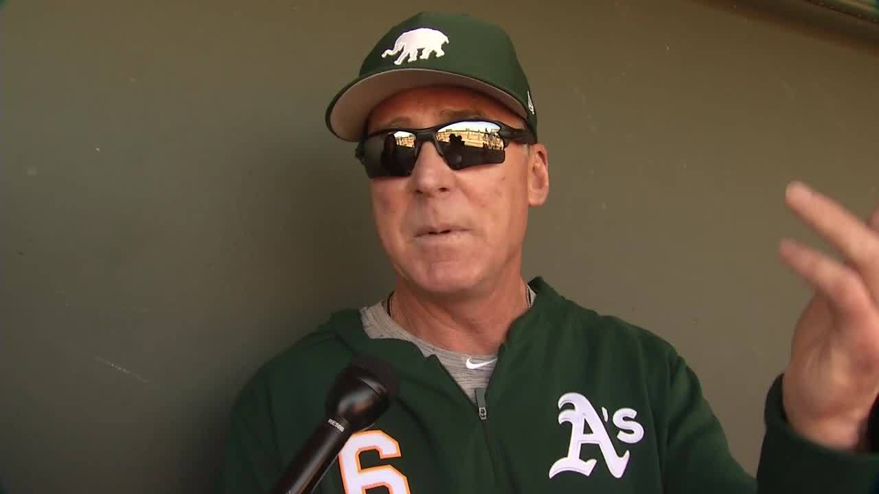 A's manager Bob Melvin on Raiders Vegas stadium