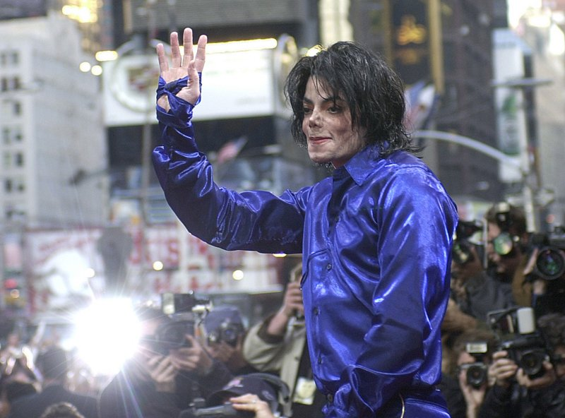Michael Jackson waves to crowds