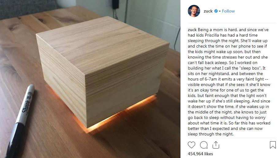 mark zuckerberg's sleep box