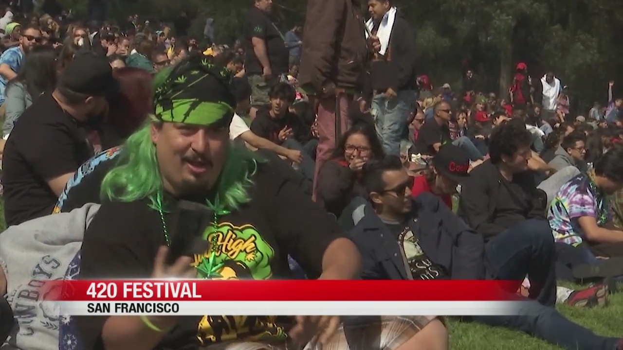 Thousands gather on Hippie Hill for annual 420 pot festival