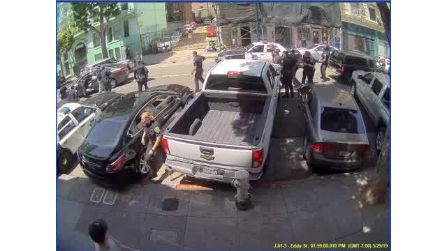 Surveillance footage of stolen vehicle