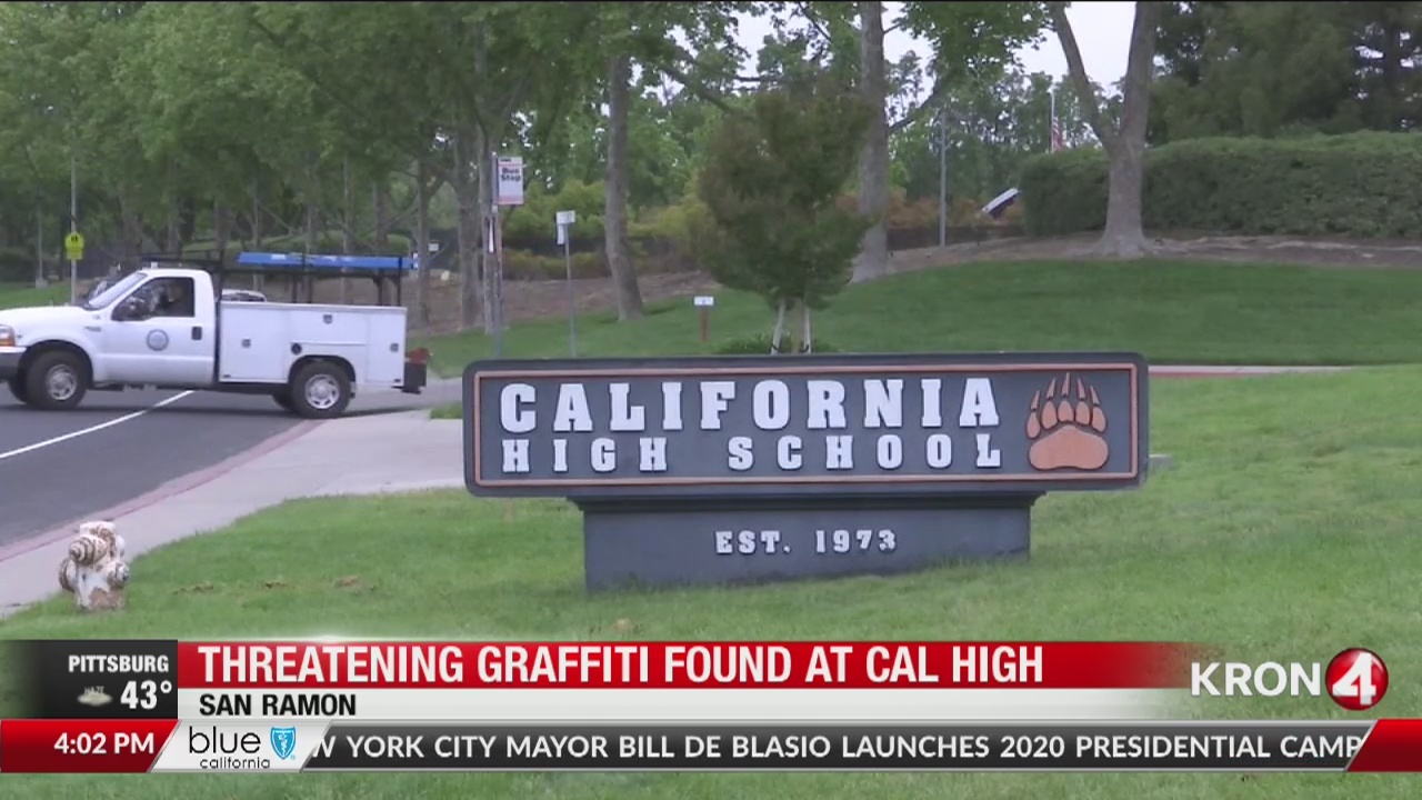 Threatening 'copycat' graffiti found at Cal High in San Ramon