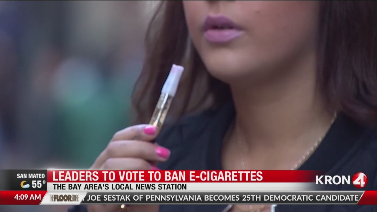 Leaders vote to ban e-cigarettes