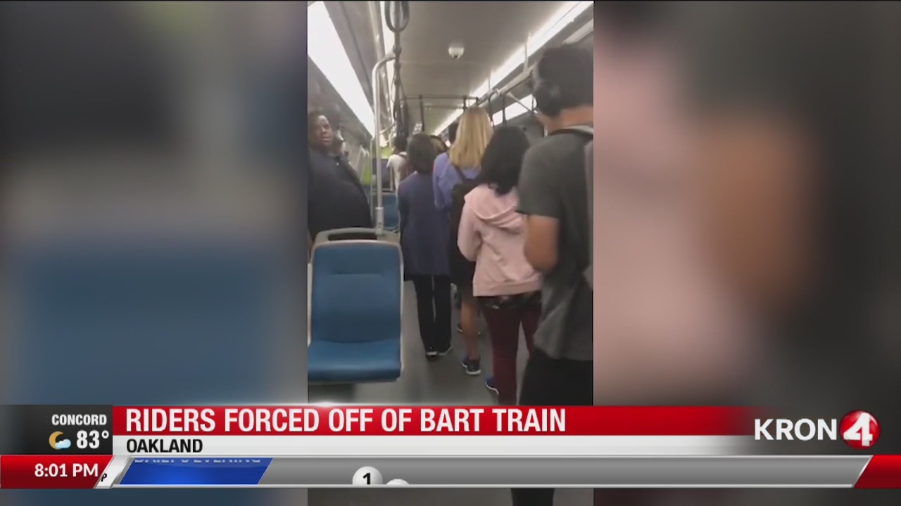 Riders forced off disabled BART train