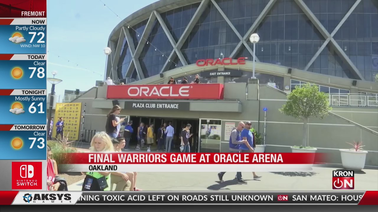 Warriors play final game at Oracle trying to force Game 7