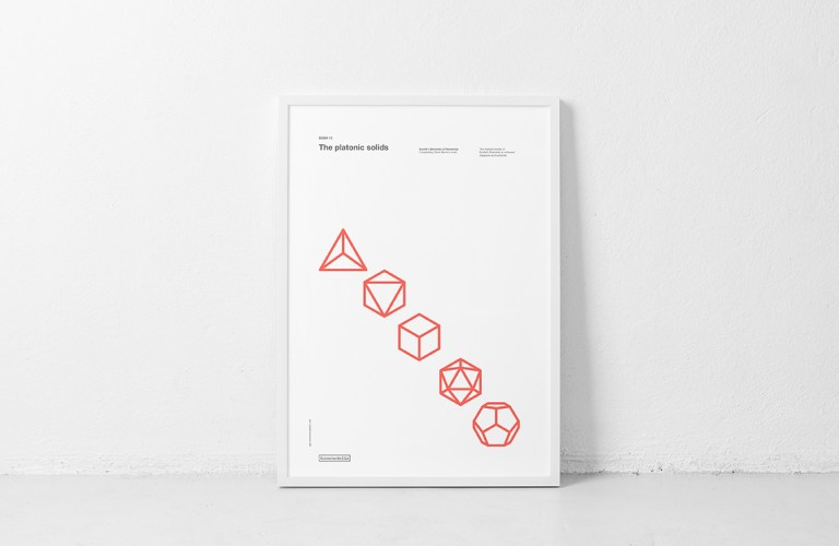 Book 13. Poster. The platonic solids. Euclid's Elements