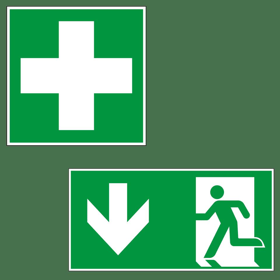 Fluchtwegschilder Rettungszeichen Kroschke At