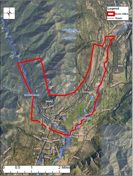 MAP: 416 Fire Info - Closures, Evacuations